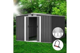 Giantz Garden Shed 2.6x3.1x2M Storage Sheds Outdoor Workshop Metal Base