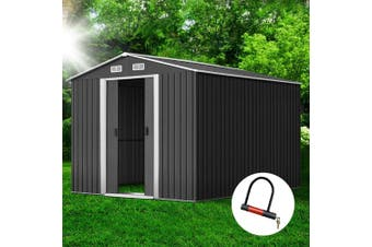 Giantz Garden Shed 2.6x3.9x2M Outdoor Storage Sheds Double Door Workshop Shelter