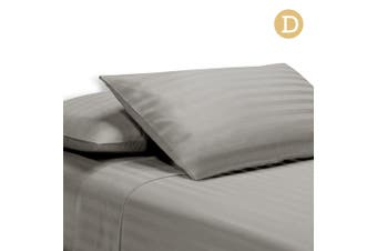 Giselle Bedding 1000TC Cotton Satin Egyptian Bed Sheet Set Flat Fitted Strip D