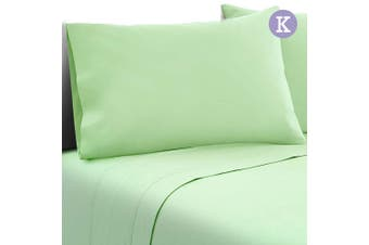 Giselle Bedding 1000TC 4PC Microfiber Bed Sheet Fitted Flat Pillowcases Apple K