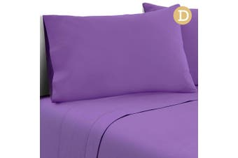 Giselle Bedding 4 Piece Microfiber Sheet Set 1000TC Fitted Flat Pillowcases D