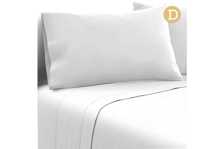 Giselle Bed Sheets Double Microfibre Sheet Bedding Set Flat Fitted Pillowcase