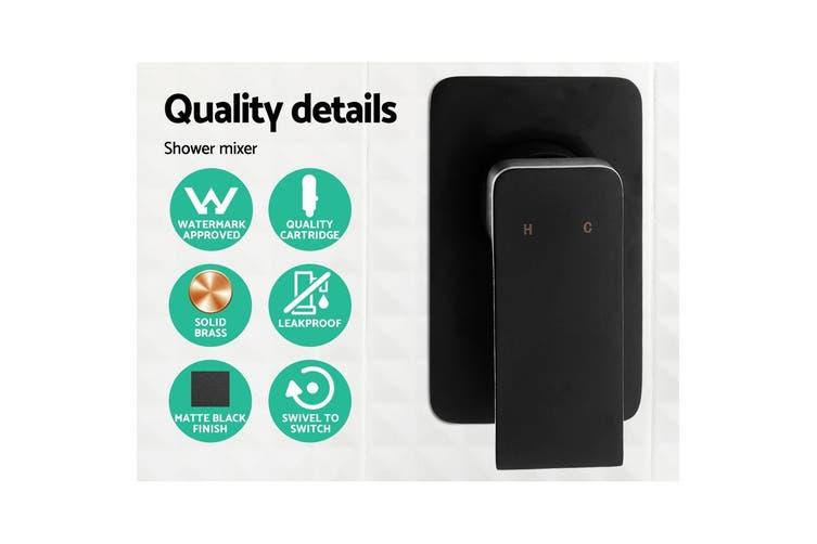 Cefito WELS 8'' Rain Shower Head Mixer Square Handheld High Pressure Wall Black