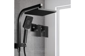 Cefito WELS 8'' Rain Shower Head Taps Square Handheld High Pressure Wall Black