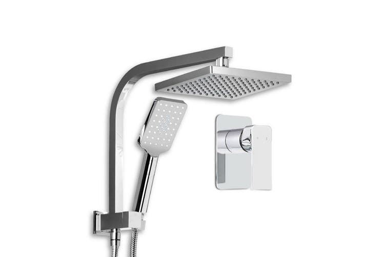 Cefito WELS 8'' Rain Shower Head Mixer Square Handheld High Pressure Wall Chrome