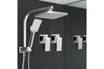 Cefito WELS 8'' Rain Shower Head Taps Square Handheld High Pressure Wall Chrome