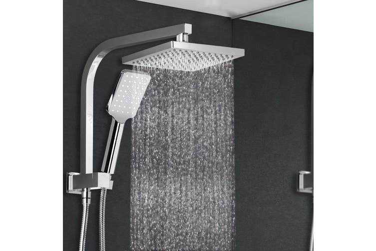 Cefito WELS 8'' Rain Shower Head Set Square Handheld High Pressure Wall Chrome
