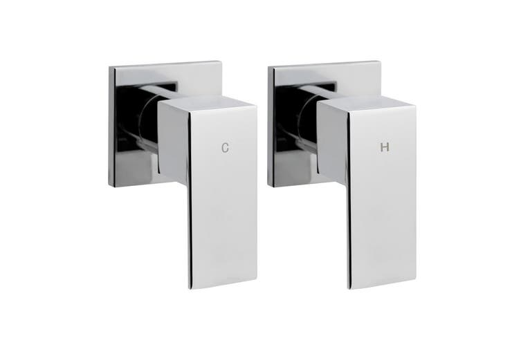 Cefito Bathroom Taps Faucet Rain Shower Head Set Hot And Cold Diverter DIY Chrome