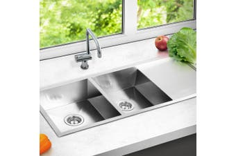 Cefito Kitchen Sink Stainless Steel Handmade Laundry Top/Undermount 1114x450mm