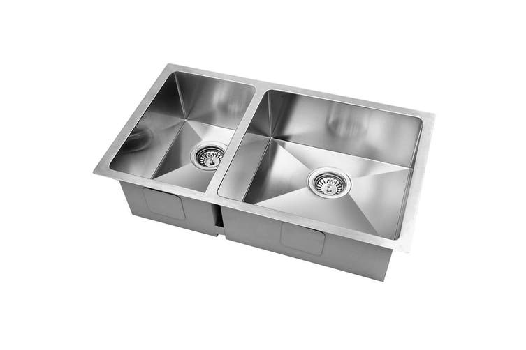 Cefito Kitchen Sink 304 Stainless Steel Top/Undermount Double Bowl 715x450mm