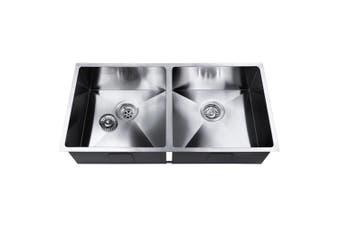 Cefito Kitchen Sink Stainless Steel Handmade Under/Topmount Double Bowl 865x440mm