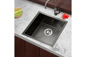 Cefito Kitchen Sink Nano Stainless Steel Single Bowl Handmade Laundry 440x440mm