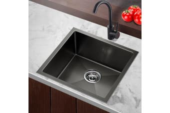 Cefito Kitchen Sink Nano Stainless Steel Single Bowl Handmade Laundry 510x450mm