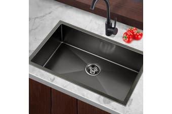 Cefito Kitchen Sink Nano Stainless Steel Handmade Single Bowl Laundry 700x450mm