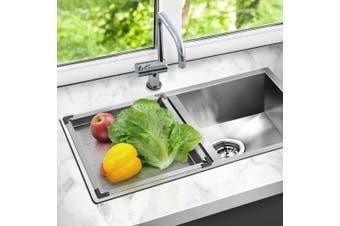 Cefito Kitchen Sink 304 Stainless Steel Colander Drainer Tray Insert Strainer
