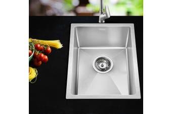 Cefito Kitchen Sink Nano Stainless Steel Handmade Top/Undermount Bowl 340x440mm