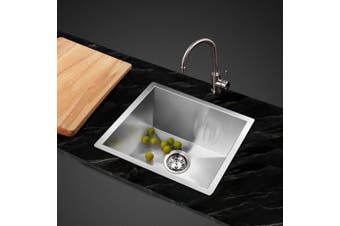 Cefito Kitchen Sink Stainless Steel Under/Topmount Handmade Laundry 360x360mm