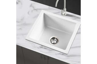 Cefito 80% Granite Kitchen Sink Stone 460 x 410mm Undermount White Sinks Non Toxic
