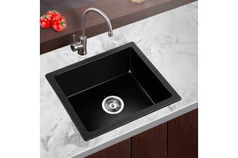 Cefito 80% Granite Kitchen Sink Stone 460 x 410mm Undermount Black Sinks Non Toxic