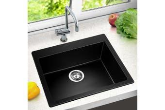 Cefito Premium Granite Stone Kitchen 570 x 500mm Sink Bowl 9MM Thick  Sinks Anti Scratch