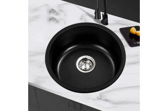 Cefito Stone Rounded Stone Sink 430 x 430mm Single Kitchen Sinks Undermount Non Toxic