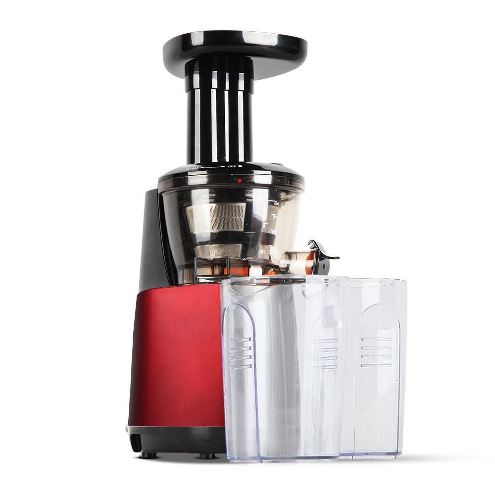 Devanti Cold Press Slow Juicer Fruit Processor Vegetable Mixer Extractor Juice Maker Red   Juicers  
