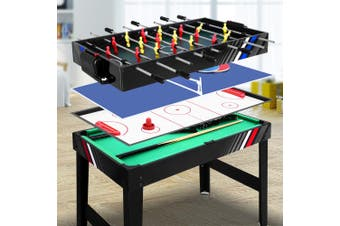 4 In 1 Soccer Table Pool Air Hockey Foosball Football Tables Game Home Entertainment Indoor Party Gift