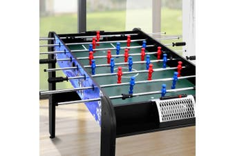 Soccer Table 4FT 121cm Adjustable Feet Football Foosball Game Bonus Balls Home Entertainment Tables Indoor Party Gift