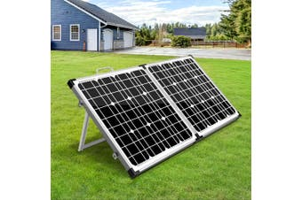 Solraiser 12 V Solar Panel Kit Folding 120W Foldable Panels USB Port Camping Camp Power Charge Caravan Boat