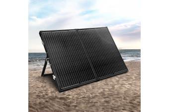 Solraiser 12 V Solar Panel Kit Folding 300W Foldable Panels USB Port Camping Camp Power Charge Caravan Boat Black