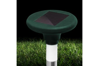 Gardeon Solar Snake Repeller 10 X Pulse Vibration Ultrasonic Rat Pest Repellent Rechargable Battery Waterproof Courtyard Pond Camping