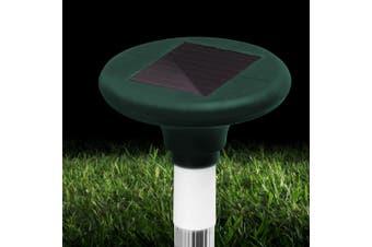 Gardeon Solar Snake Repeller 4 X Pulse Vibration Ultrasonic Rat Pest Repellent Rechargable Battery Waterproof Courtyard Pond Camping