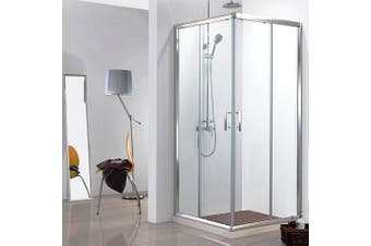 Cefito 900x900 Square Shower Screen Enclosure Sliding Doors Corner Quadrant Cubicle