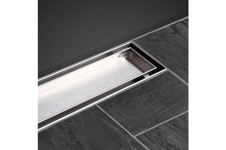 Cefito Shower Grate Tile Insert Drain 800mm 304 Stainless Steel Grates Bathroom