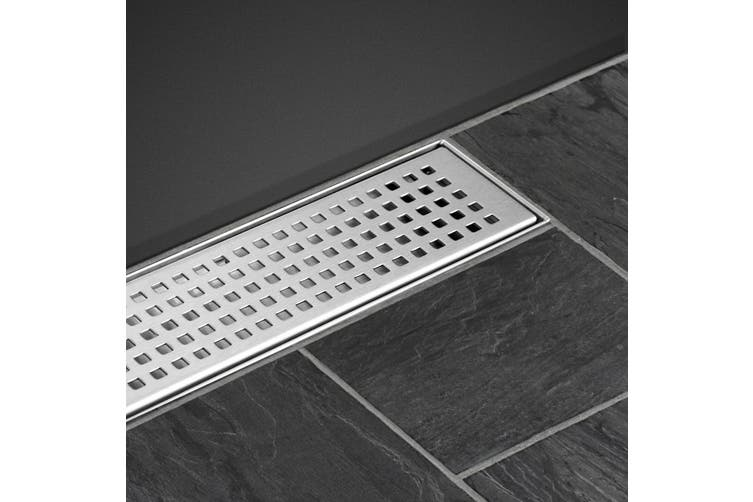 Cefito Shower Grate 800mm Drain Stainless Steel Grates Bathroom Floor Waste