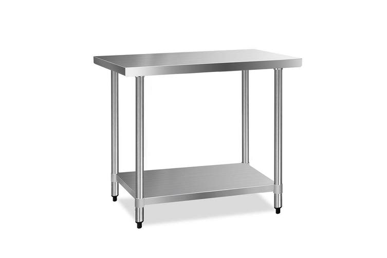 Cefito Stainless Steel Kitchen Benches Work Bench Food Prep Table 1219x610