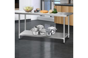 Cefito Stainless Steel Kitchen Benches Work Bench Food Prep Table 1829x760