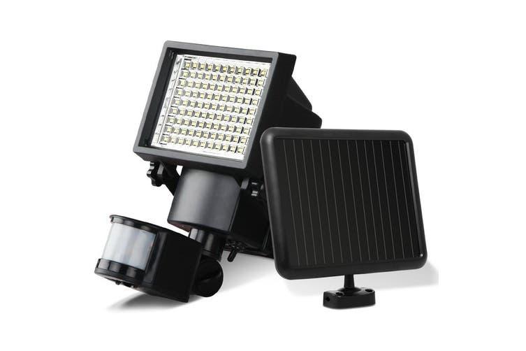 2 x Solar Motion Sensor Light LED 100 Security Outdoor Solar Powered Lights Detection Dual Garden Lamps Panel