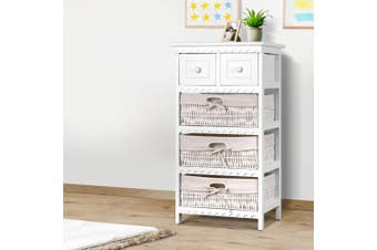 Artiss Chest of Drawers Dresser Bedroom Storage Cabinet Table Hallway Basket