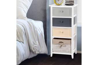 Artiss Bedside Tables Drawer Side Table Bedroom Storage Cabinet Organiser Basket