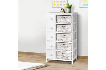 Chest of Drawers Dresser Bedroom Storage Cabinet Basket Hallway