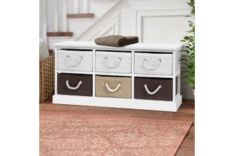 Artiss Storage Bench Shoe Organiser 6 Drawers Chest Cabinet Rack Box Shelf Stool