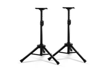 Alpha 2pcs Speaker Stands Stand Tripod Adjustable Height Mount Studio Home