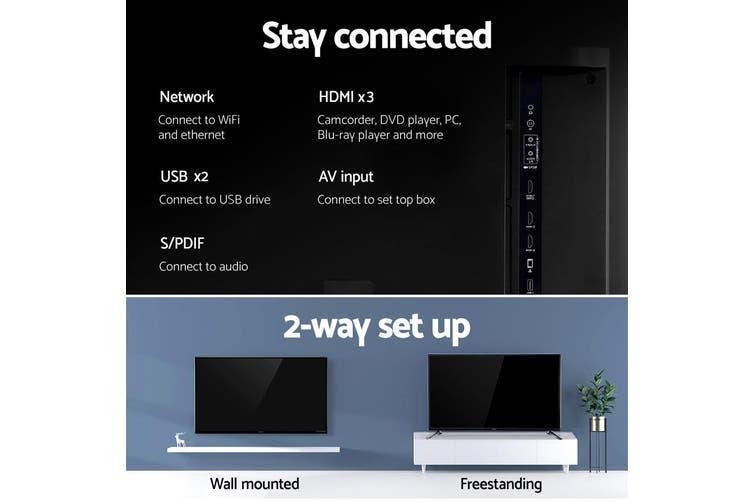 "Devanti Smart LED TV 43 Inch 43"" 4K UHD HDR LCD Slim Thin Screen Netflix YouTube"