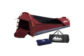 Weisshorn Biker Swag Camping Single Swags Tent Biking Deluxe Canvas Bag Red