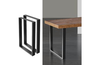 Artiss 2x Coffee Dining Steel Table Legs 71x50CM Industrial Vintage Bench Metal Box