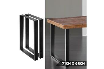 Artiss Set of 2 Metal Box Shape Table Legs 710MM Coffee Dining Bench Steel Industrial  Vintage Leg Rust resistant