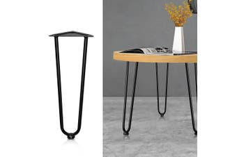 Artiss Set of 4 Table Legs Hairpin Leg 45CM Coffee Dining Bench Tables Industrial Vintage Rod Black