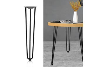 Artiss Set of 4 Table Legs Hairpin Leg 73CM Coffee Dining Bench Tables Industrial Vintage Rod Black