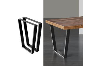 Artiss 2x Coffee Dining Table Legs 71x65/40CM Industrial Vintage Bench Metal Trapezoid